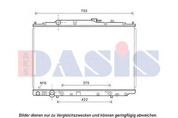 Радиатор, охлаждение двигателя AKS DASIS 100072N