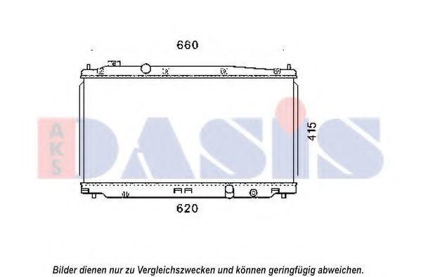 Радиатор, охлаждение двигателя AKS DASIS 100077N
