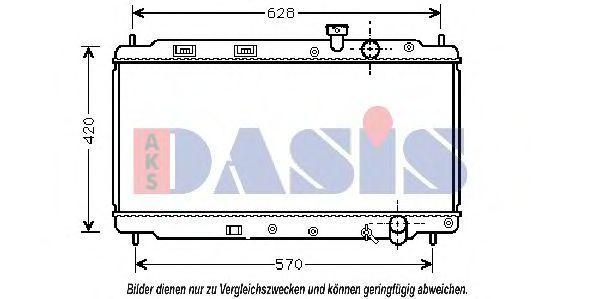 Радиатор, охлаждение двигателя AKS DASIS 100280N