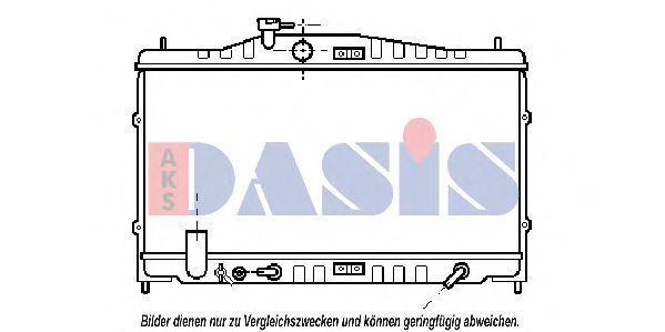 Радиатор, охлаждение двигателя AKS DASIS 100290N