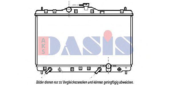 Радиатор, охлаждение двигателя AKS DASIS 100310N