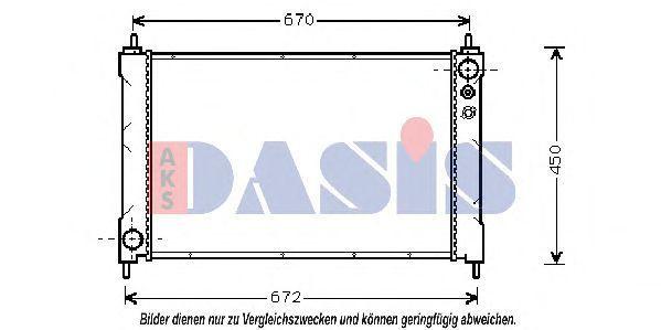 Радиатор, охлаждение двигателя AKS DASIS 100640N