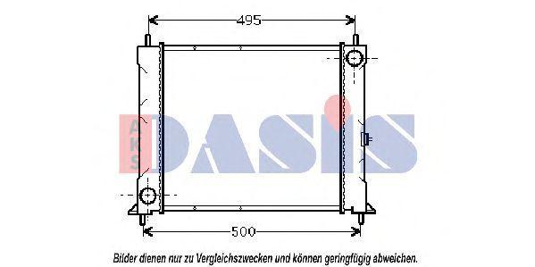 Радиатор, охлаждение двигателя AKS DASIS 100670N