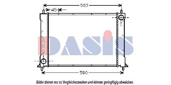 Радиатор, охлаждение двигателя AKS DASIS 100680N