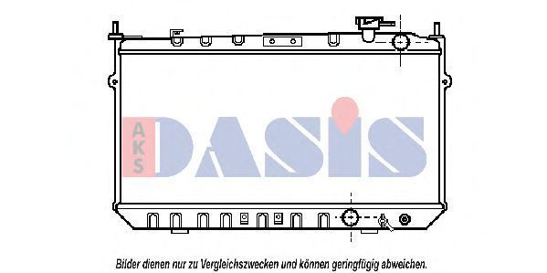 Радиатор, охлаждение двигателя AKS DASIS 100750N