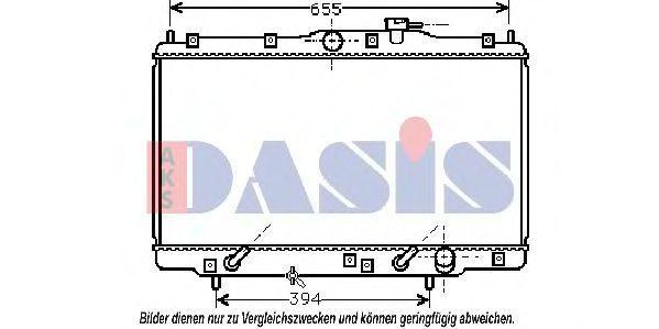 Радиатор, охлаждение двигателя AKS DASIS 100860N