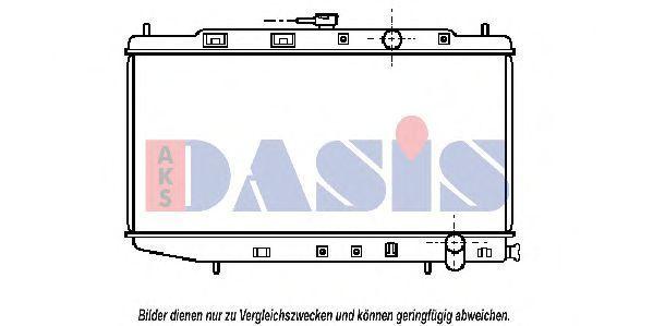 Радиатор, охлаждение двигателя AKS DASIS 100870N