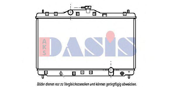 Радиатор, охлаждение двигателя AKS DASIS 100940N