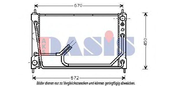 Радиатор, охлаждение двигателя AKS DASIS 100960N