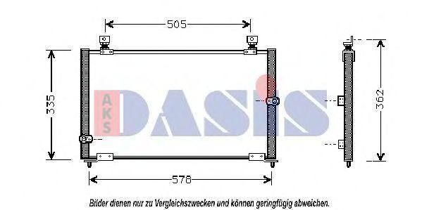 Конденсатор, кондиционер AKS DASIS 102000N