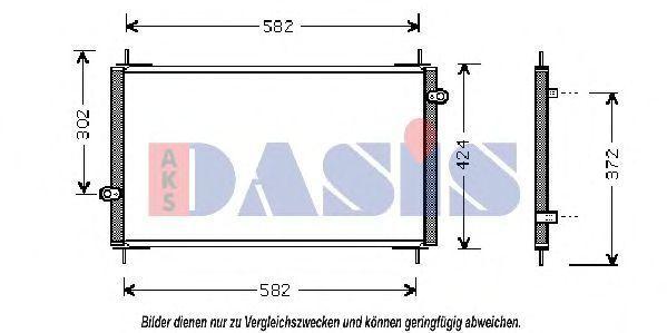Конденсатор, кондиционер AKS DASIS 102004N