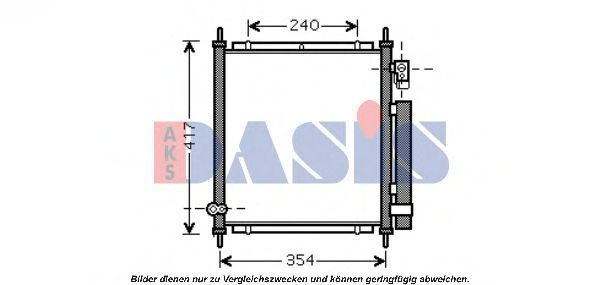 Конденсатор, кондиционер AKS DASIS 102006N
