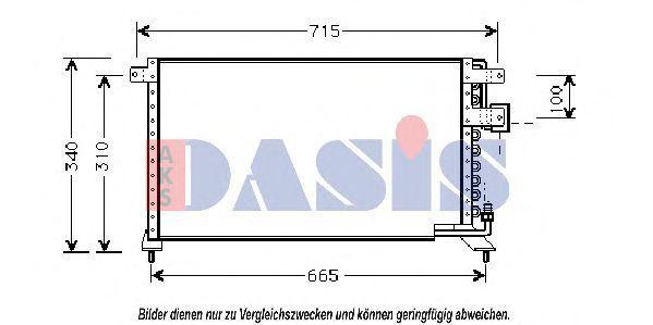 Конденсатор, кондиционер AKS DASIS 102020N
