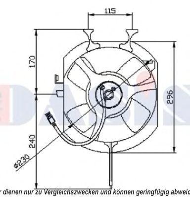 Вентилятор, охлаждение двигателя AKS DASIS 108040N