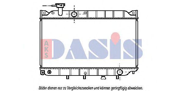 Радиатор, охлаждение двигателя AKS DASIS 110010N