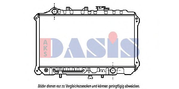Радиатор, охлаждение двигателя AKS DASIS 110018N
