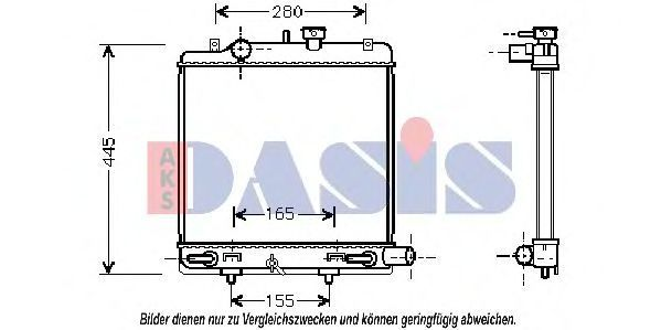 Радиатор, охлаждение двигателя AKS DASIS 110019N