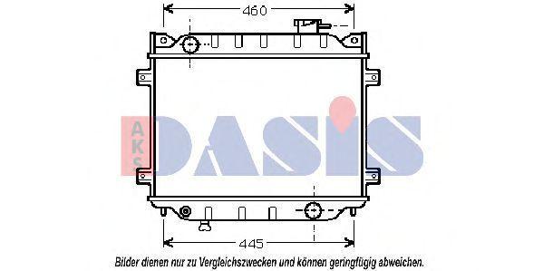 Радиатор, охлаждение двигателя AKS DASIS 110020N