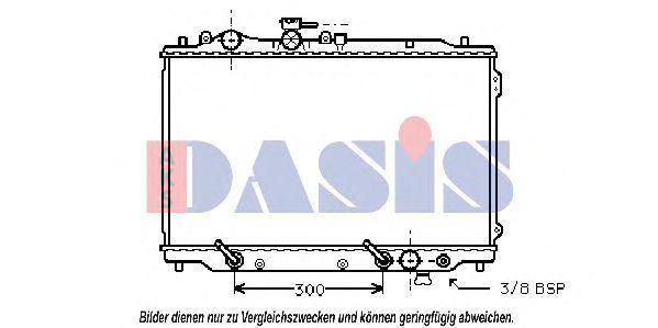 Радиатор, охлаждение двигателя AKS DASIS 110022N