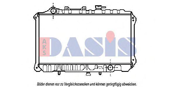 Радиатор, охлаждение двигателя AKS DASIS 110023N