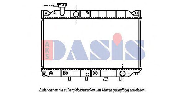 Радиатор, охлаждение двигателя AKS DASIS 110030N