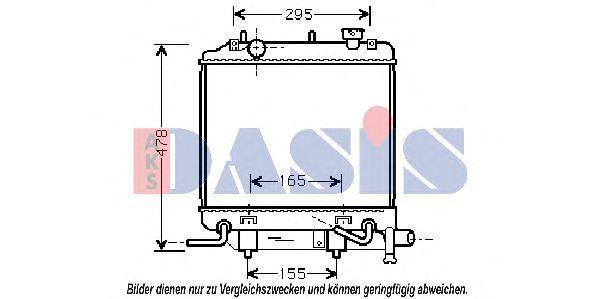 Радиатор, охлаждение двигателя AKS DASIS 110041N