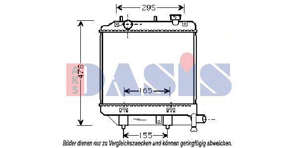 Радиатор, охлаждение двигателя AKS DASIS 110044N