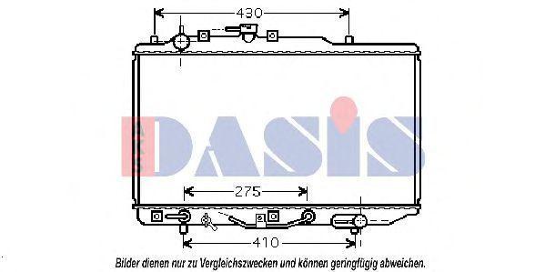 Радиатор, охлаждение двигателя AKS DASIS 110047N
