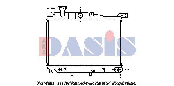 Радиатор, охлаждение двигателя AKS DASIS 110050N