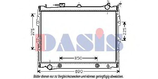 Радиатор, охлаждение двигателя AKS DASIS 110059N