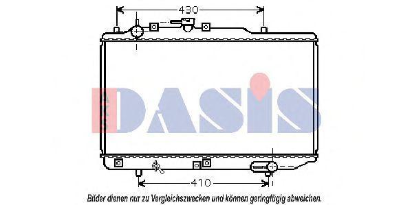 Радиатор, охлаждение двигателя AKS DASIS 110068N
