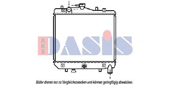 Радиатор, охлаждение двигателя AKS DASIS 110070N