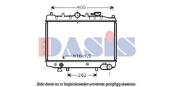 Радиатор, охлаждение двигателя AKS DASIS 110090N