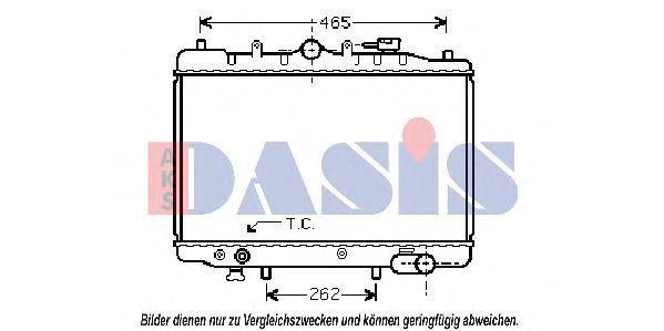 Радиатор, охлаждение двигателя AKS DASIS 110100N
