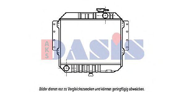 Радиатор, охлаждение двигателя AKS DASIS 110170N