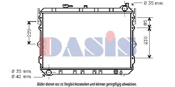 Радиатор, охлаждение двигателя AKS DASIS 110190N