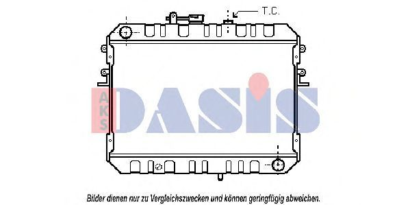 Радиатор, охлаждение двигателя AKS DASIS 110290N