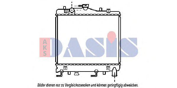 Радиатор, охлаждение двигателя AKS DASIS 110460N