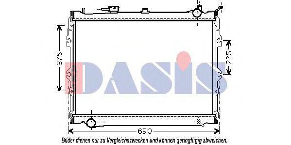 Радиатор, охлаждение двигателя AKS DASIS 110920N