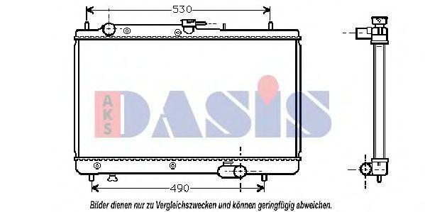 Радиатор, охлаждение двигателя AKS DASIS 111020N