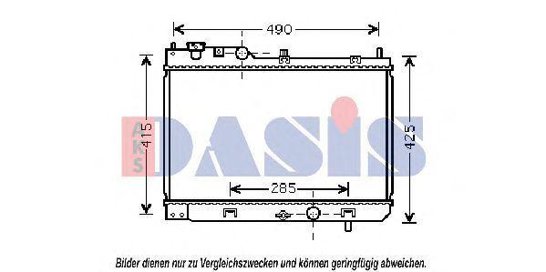 Радиатор, охлаждение двигателя AKS DASIS 111250N
