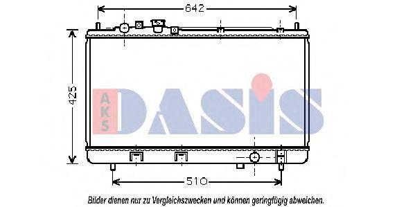 Радиатор, охлаждение двигателя AKS DASIS 111260N