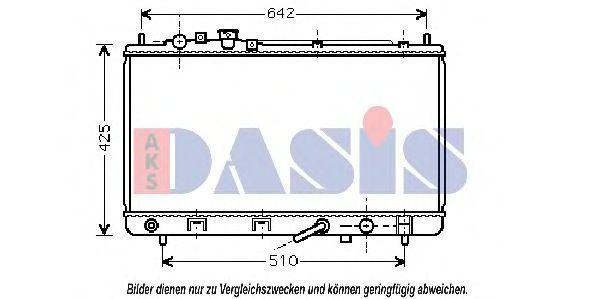 Радиатор, охлаждение двигателя AKS DASIS 111270N