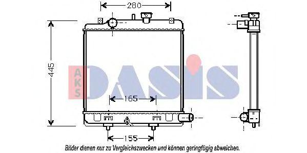 Радиатор, охлаждение двигателя AKS DASIS 111280N