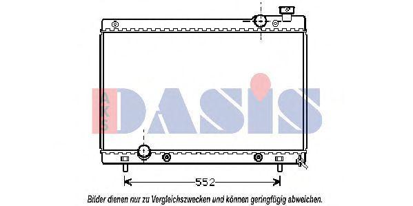 Радиатор, охлаждение двигателя AKS DASIS 111320N