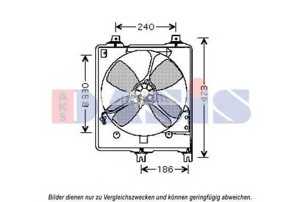 Вентилятор, охлаждение двигателя AKS DASIS 112029N