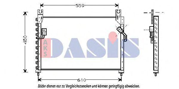 Конденсатор, кондиционер AKS DASIS 112180N