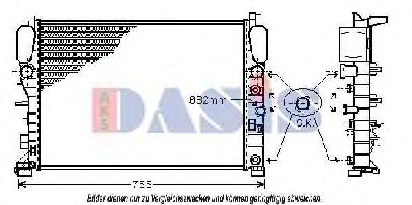 Радиатор, охлаждение двигателя AKS DASIS 120009N