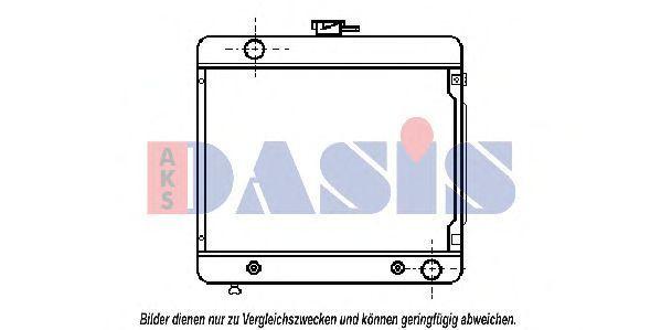 Радиатор, охлаждение двигателя AKS DASIS 120020N