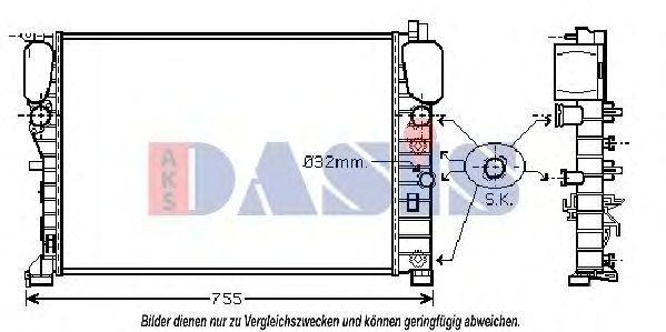 Радиатор, охлаждение двигателя AKS DASIS 120036N